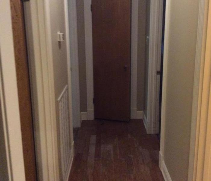 Hallway with laminate saturated