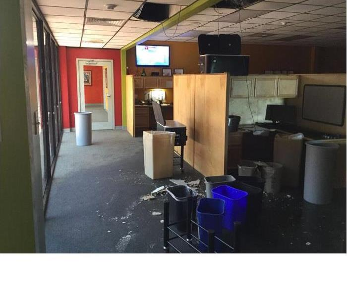 Water Damage at a local Radio Station in Alamo Heights  Before