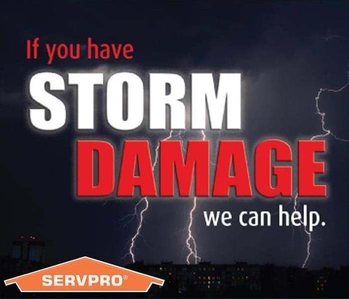 SERVPRO Flier that says If you have storm Damage we can help.